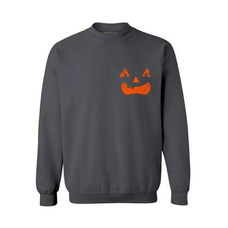 Awkward Styles Jack-O'-Lantern Sweatshirt Jack-O'-Lantern Pumpkin Sweater Women's Halloween Sweatshirt Halloween Pumpkin Sweater for Men Spooky Gifts for Halloween Scary Pumpkin Sweatshirt Unisex