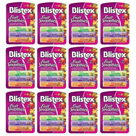 12 Pack Blistex Fruit Smoothies, SPF 15 .1 oz (2.83 g) = 36 (Blistex Fruit Smoothies)