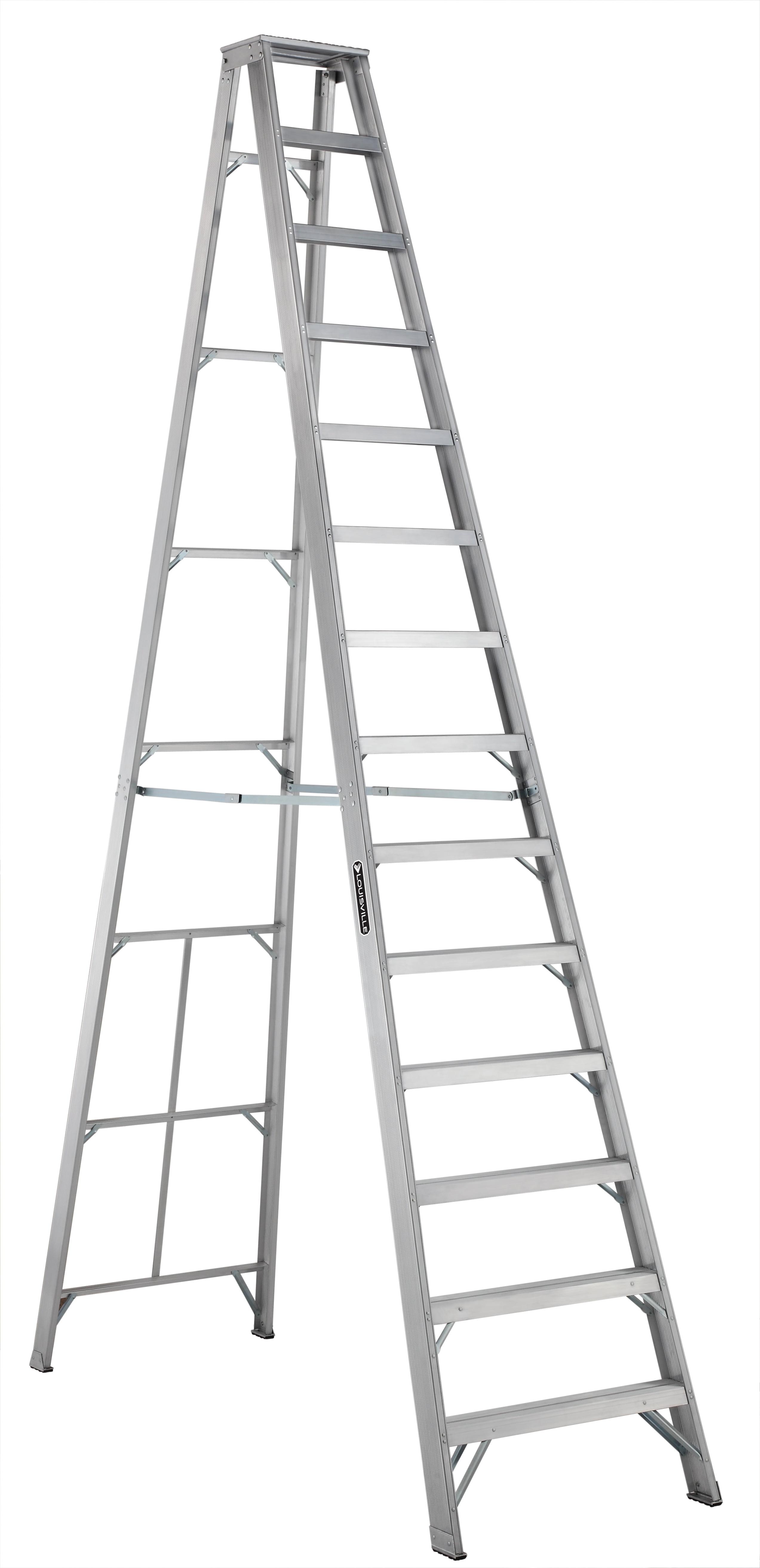 Louisville Ladder As1014 14 Ft Aluminum Step Ladder Type Ia 300 Lbs Load