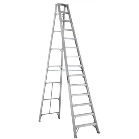 Louisville Ladder As1014 14 Ft Aluminum Step Ladder Type Ia 300 Lbs Load Capacity Walmart Com