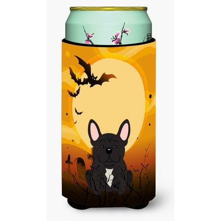 Halloween Traditions In France (Halloween French Bulldog Brindle Tall Boy Beverage Insulator Hugger)