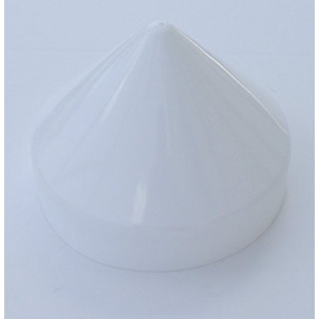 Plastic Piling Cone Marine Dock Boat Pylon Edge Post Head White Cover (White, (Rowboat Heads)