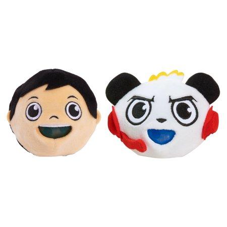Kawaii Panda Plush (Ryan's World Squishy Bubble Plush 2-Pack - Ryan & Combo)