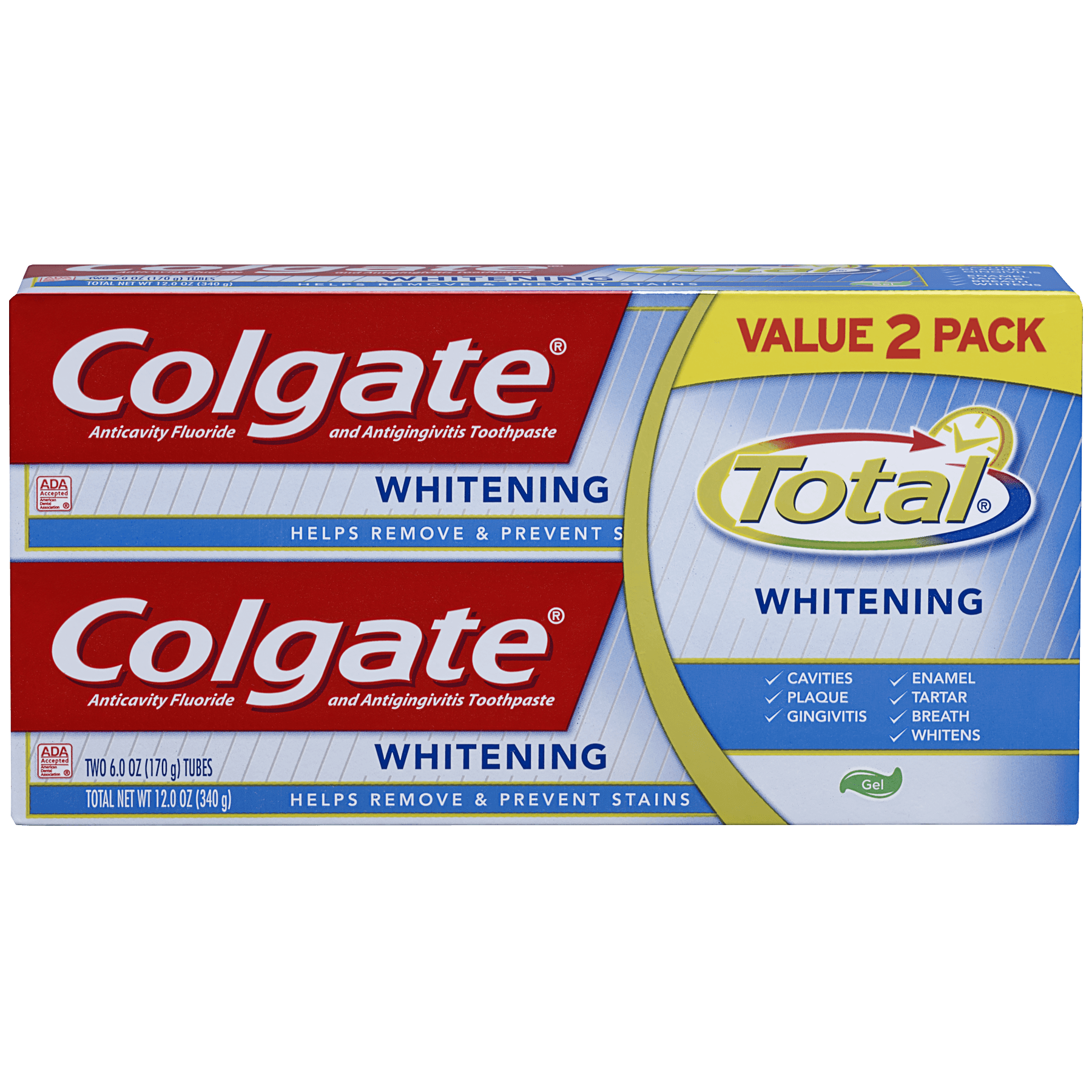 Colgate Total Whitening Gel Toothpaste - 6 oz (Twin Pack)