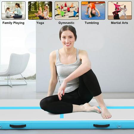 400x100cm Tapis de Gymnastique Gonflable 4M Airtrack Tumbling Entraînement