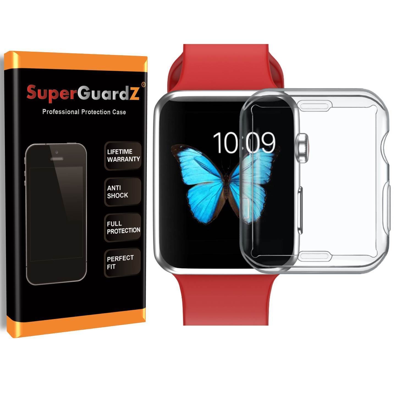 For Apple Watch Series 3 (42 mm) Case, SuperGuardZ Slim Heavy-Duty Shockproof Protection  Armor Shield Guard  + 2 Stylus Pen