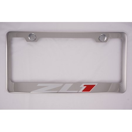 Chevy Camaro ZL1 Chrome License Plate Frame with Cap, By PRC ...