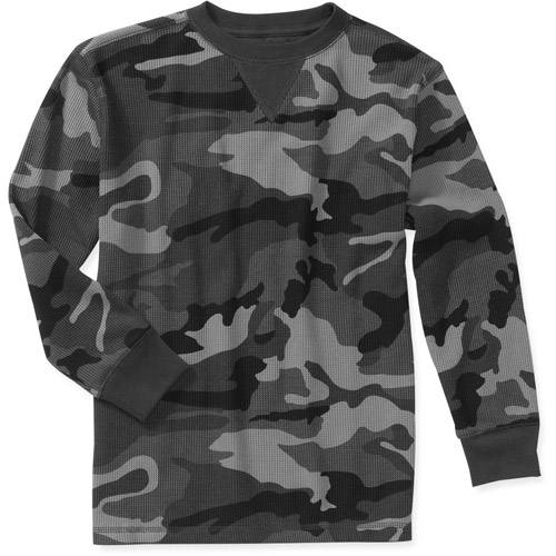 Faded Glory Fg Boys Solid Thermal Crew
