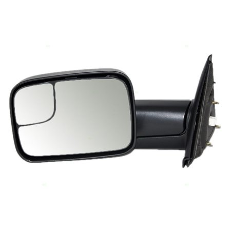 Drivers Power Trailer Tow Side View Mirror Heated 7x10 Flip-Up Replacement for Dodge Pickup Truck 55077445AO, Brand new performance upgrade mirror By AUTOANDART Pickup Performance Chips