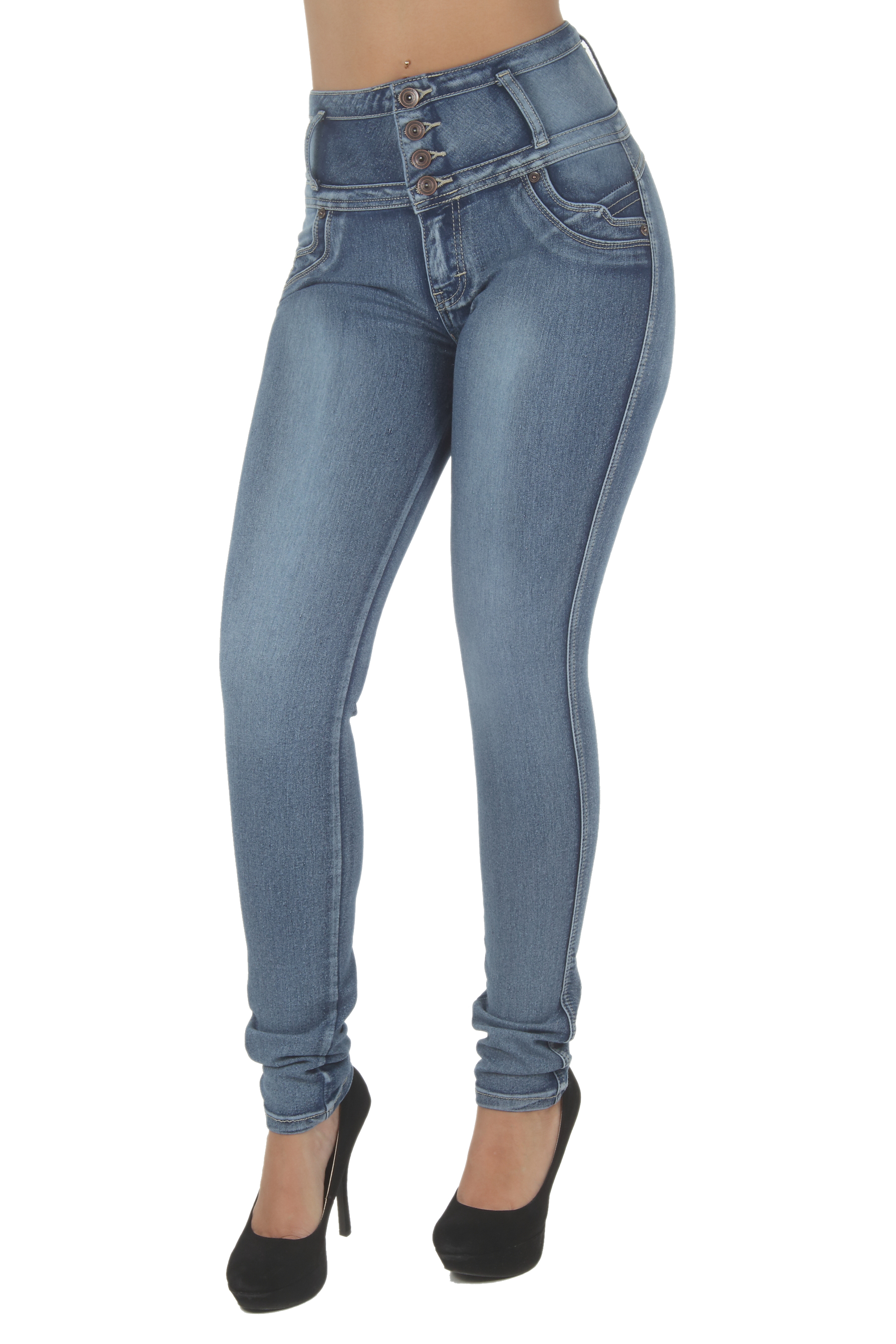 N1191P - Plus Size, Butt Lifting, Levanta Cola, High Waist Sexy Skinny Jeans