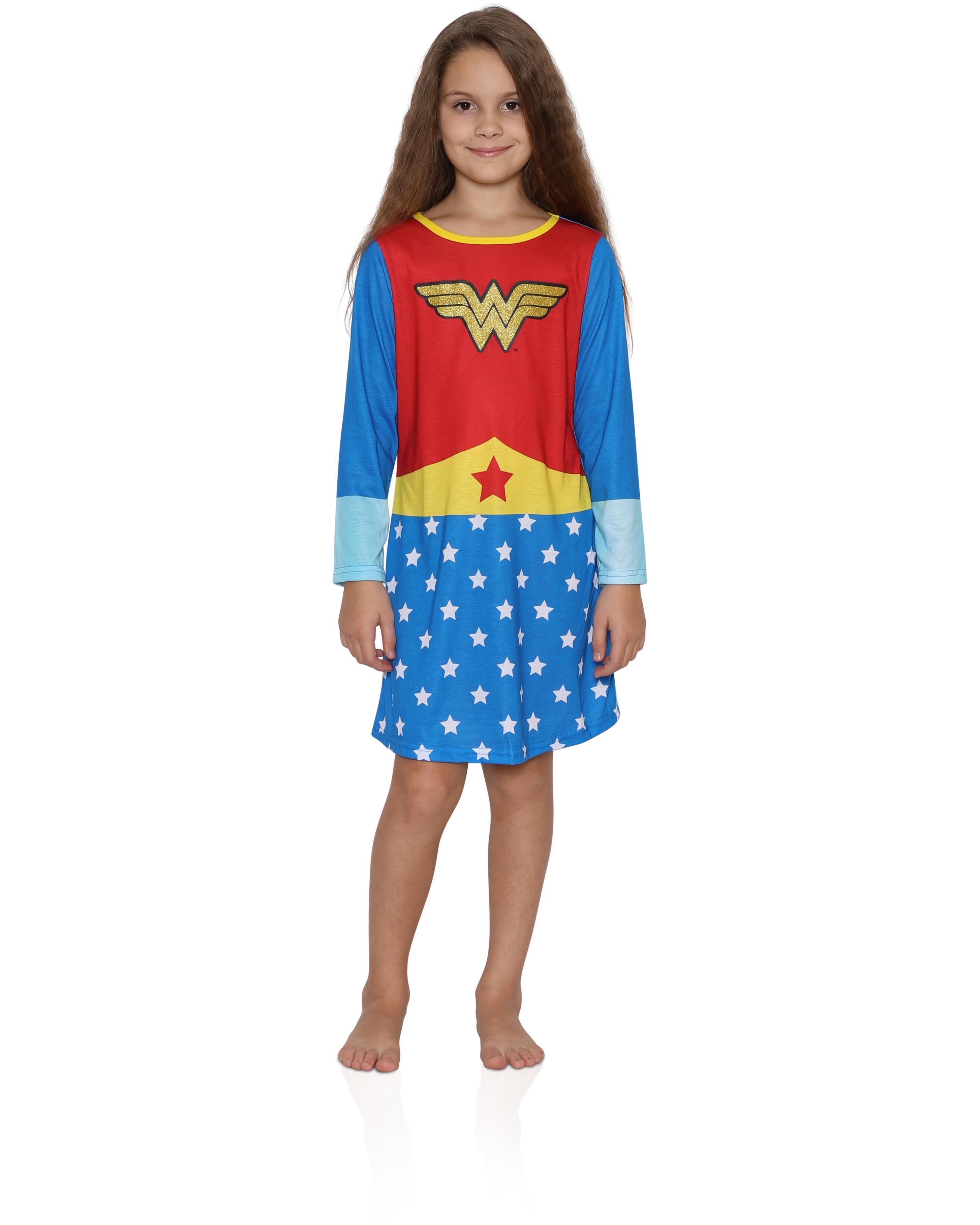 Girls' Wonder Woman Pullover Nightgown