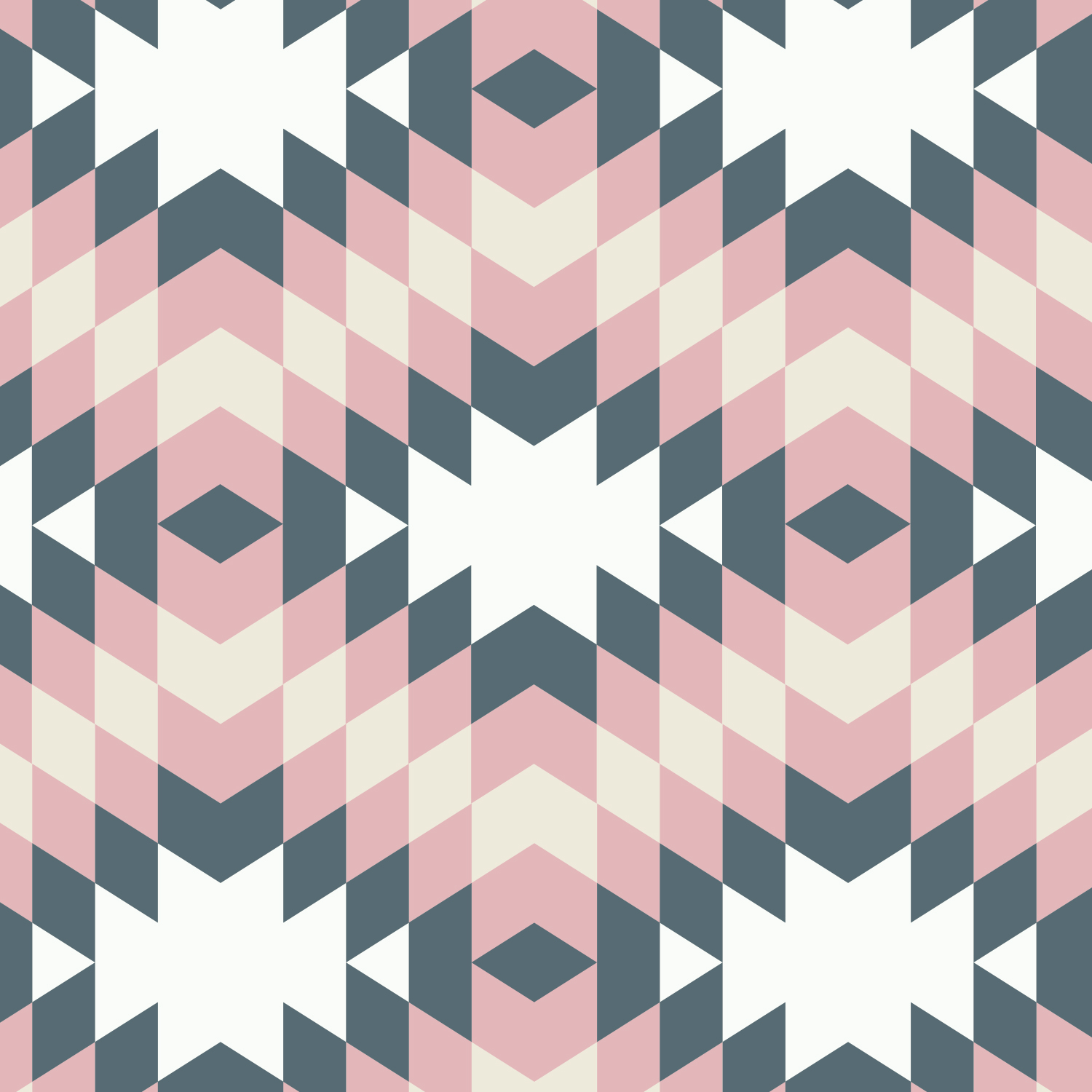 100% Cotton fabric from Emma and Mila from the Nordic Collection -Diamonds Iron