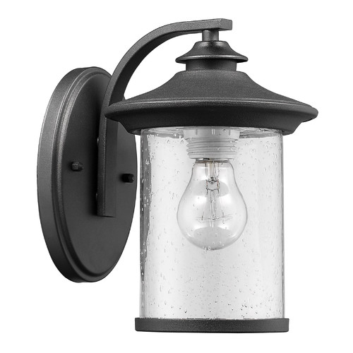 """CHLOE Lighting LIAM Transitional 1 Light Black Outdoor Wall Sconce 10"""" Height"""