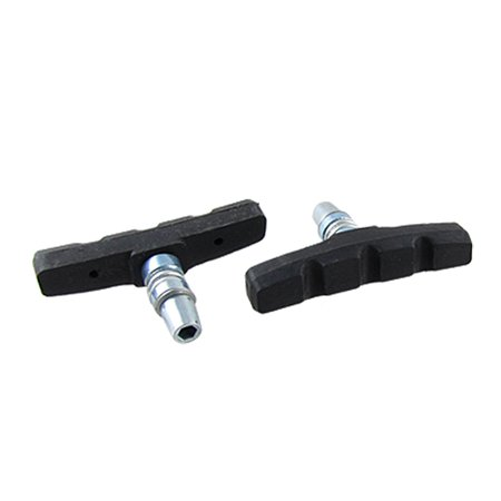 2 Pcs Soundless Rubber Bike Brake Pads Replacement for Mountain Bicycle Silver Tone Black Avid Mountain Bike Brakes