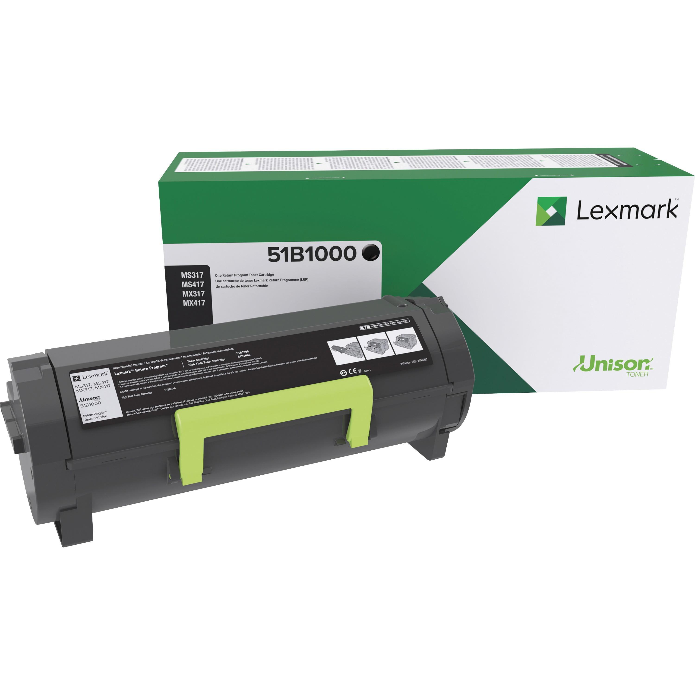 Lexmark, LEX51B1000, Toner Cartridge, 1 Each