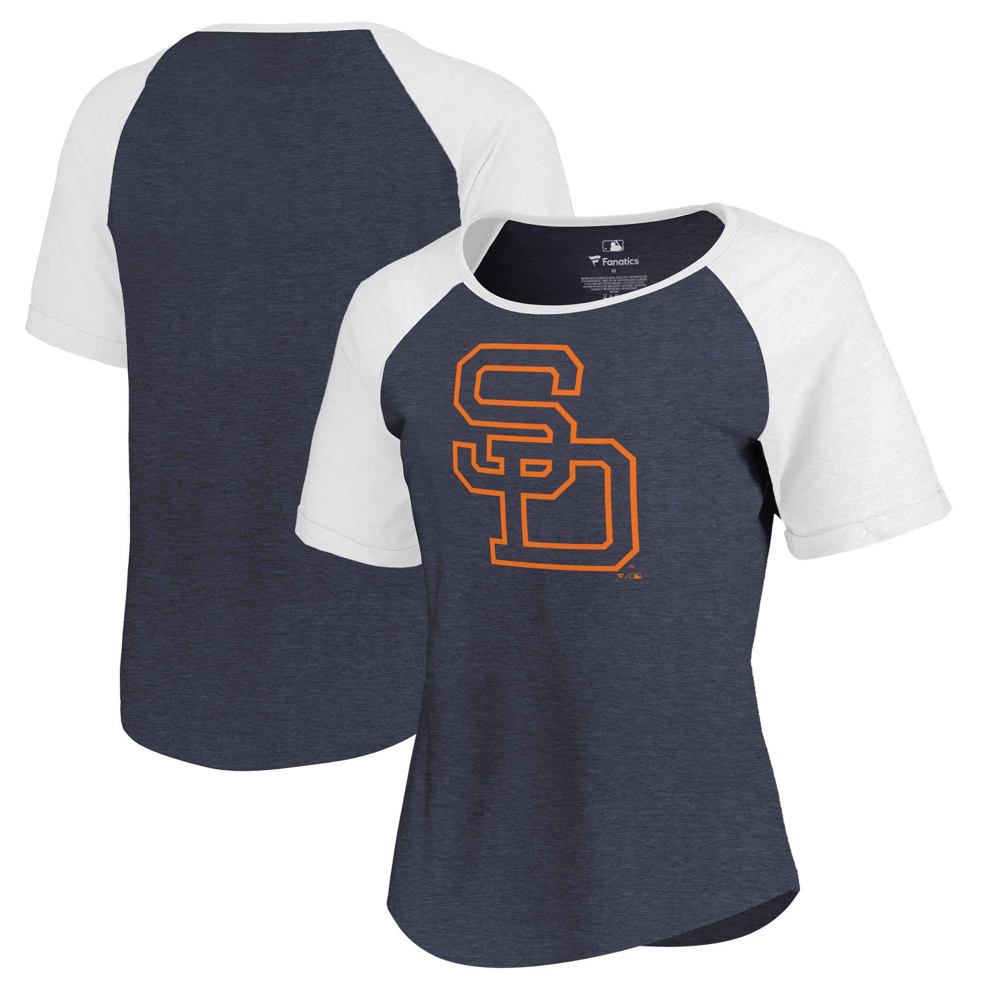 San Diego Padres Fanatics Branded Women's Huntington Cooperstown Collection Tri-Blend T-Shirt - Navy