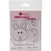 """Woodware Clear Stamps 3.5""""X3.5""""-Hoppy Bunny"""