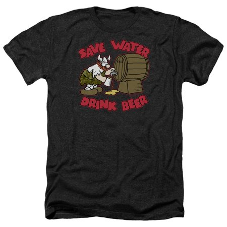 Hagar The Horrible Save Water Drink Beer Mens Heather Shirt