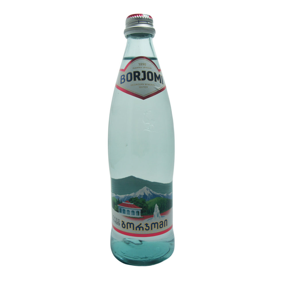 Borjomi Mineral Water 0.5L GLASS BOTTLE. Pack of 5. Includes Our Exclusive HolanDeli... by