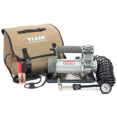 Viair Compressor - Viair 400P Portable 12V 33% Duty 150 PSI Compressor Kit for Tires up to 35