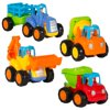 Set of 4 Push and Go Friction Powered Car Toys Deals