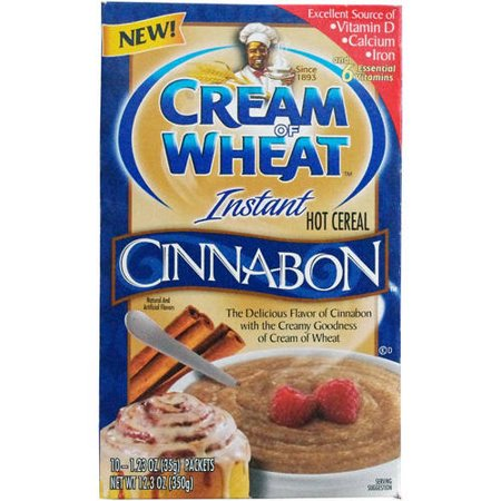 Instant Hot Cereal (Cream Of Wheat Instant Hot Cereal Cinnabon 12.3 Oz (Pack of)