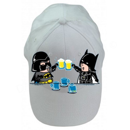 Super Hero Parody Drinking Bar Helmets 100% Cotton White Adjustable Cap (White Willow Bark 100 Caps)
