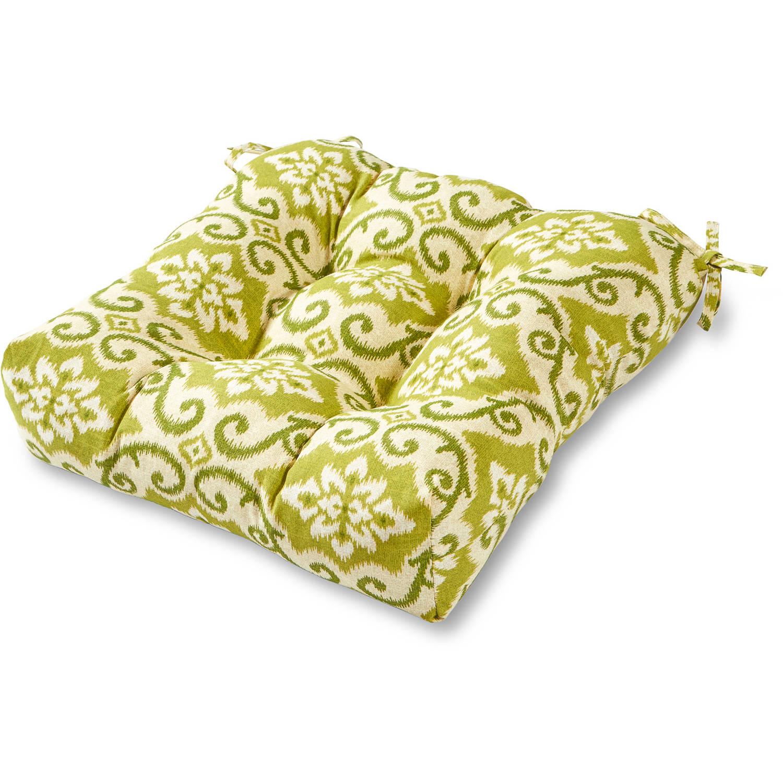 "Greendale Home Fashions 20"" Outdoor Chair Cushion, Green Ikat"