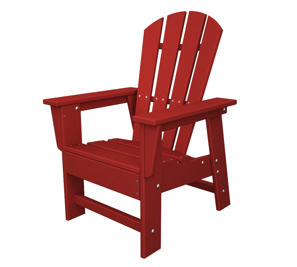 Polywood Reg South Beach Recycled Plastic Kids Adirondack Chair Com