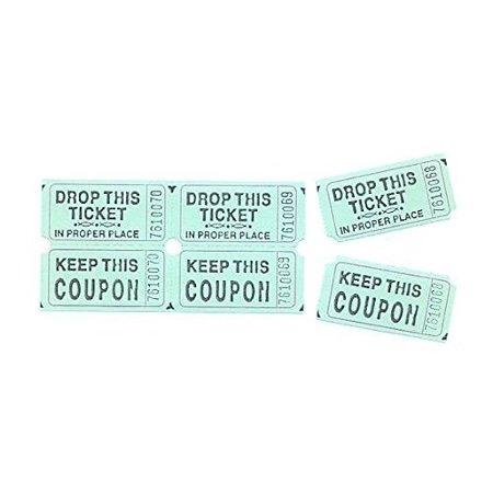 fun express green double roll raffle tickets set of 2000 walmart com
