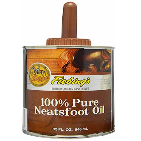 Neatsfoot Oil (Fiebing's Pure Neatsfoot Oil 32 oz | Leather Softener | Comes with)