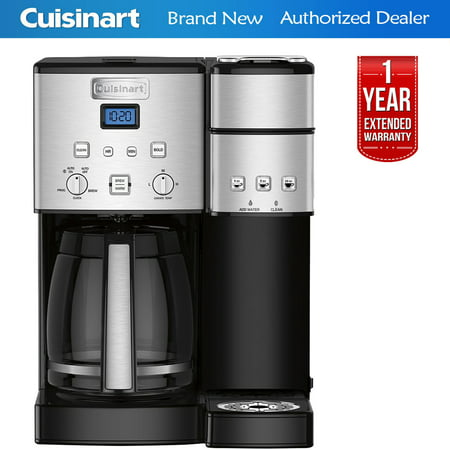 Cuisinart SS-15 12-Cup Coffee Maker and Single-Serve Brewer, Stainless Steel with 1 Year Extended Warranty ()
