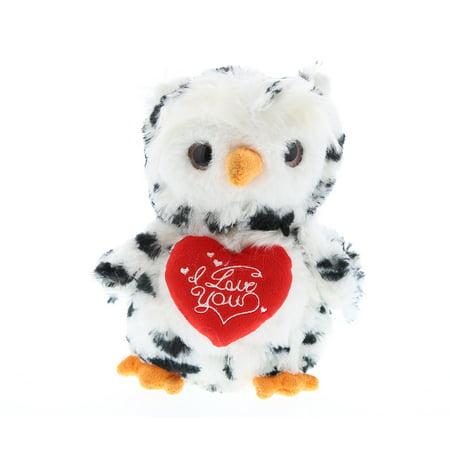 Super Soft Plush Dollibu White Owl I Love You Valentines Plush](Valentine Owl)