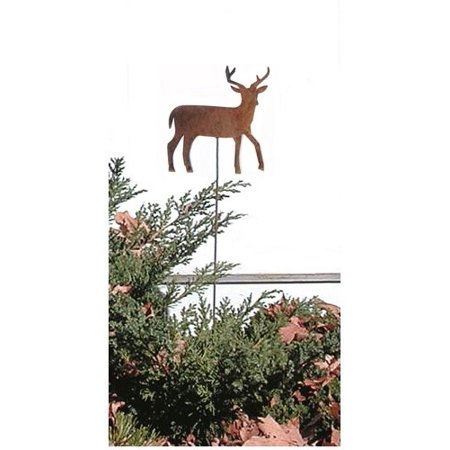 Village Wrought Iron RGS-3 Deer Rusted Garden Stake ()