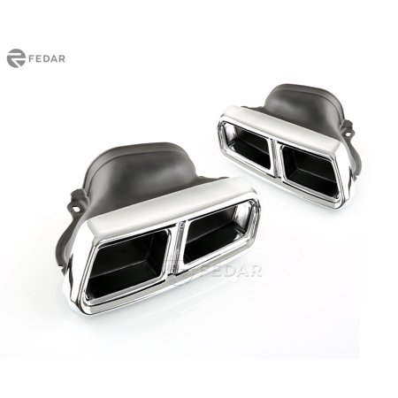 Fedar Fits Mercedes-Benz C/CLS/E/S/SL AMG Style Exhaust Muffler Pipe Tip - (Muffler Pipe Baffles)