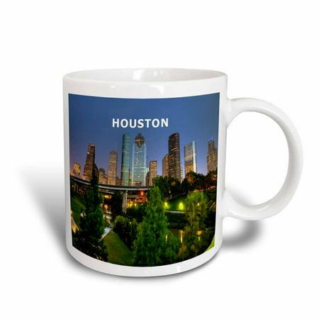 - 3dRose City Of Houston Texas, Ceramic Mug, 11-ounce