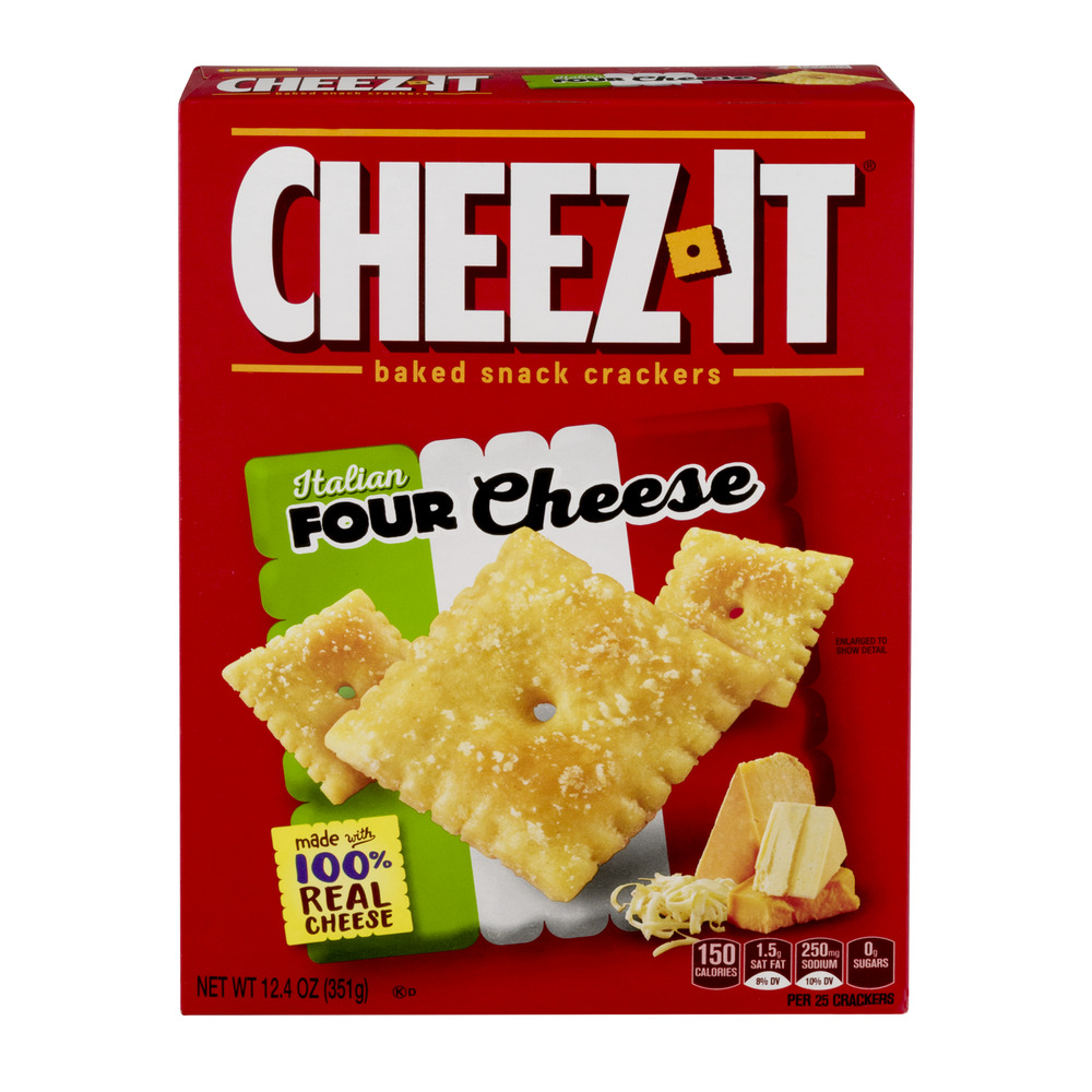 Cheez-It Baked Snack Crackers Italian Four Cheese, 12.4 OZ
