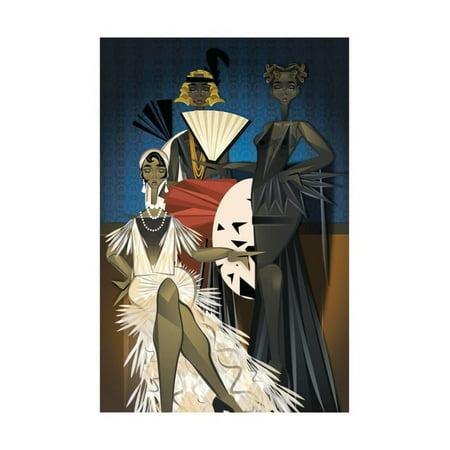 Campbell Art Deco Print - Harlem Nights Print Wall Art By Jaleel Campbell
