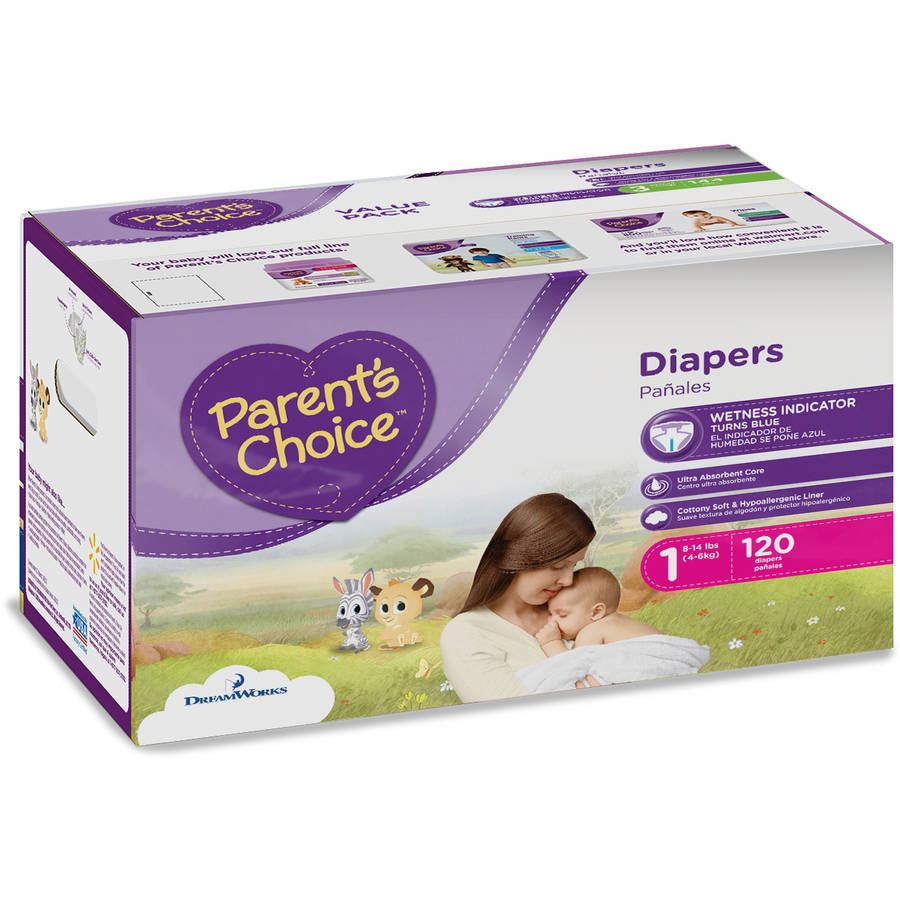 Parent's Choice Diapers, Size 1 (Choose Diaper Count)