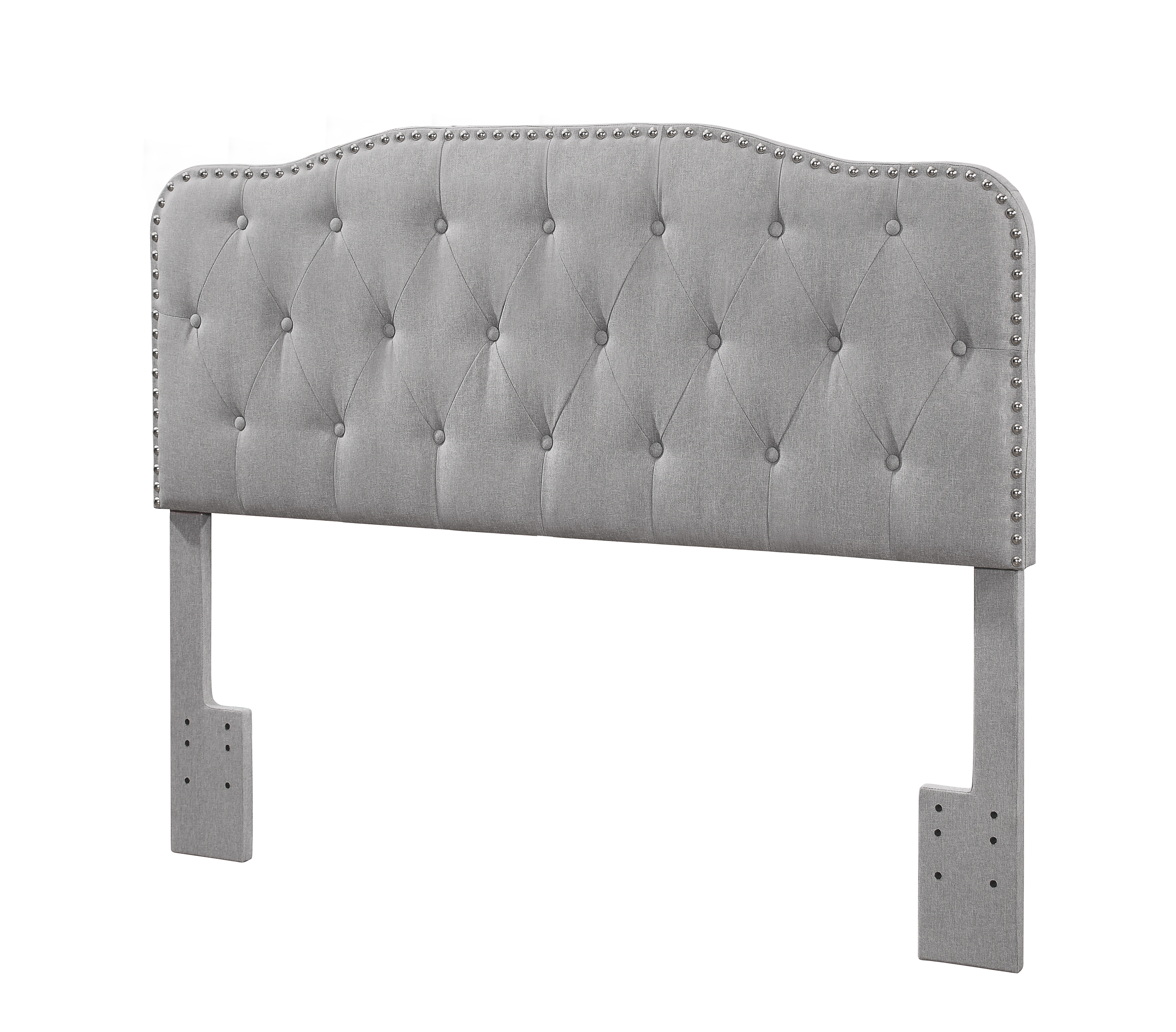 Best Quality Furniture Linen Panel Headboard Queen Or Full Size Bed Frame Multiple Colors