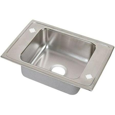 Drop In Utility Sink Stainless.Elkay Psdkr2517 Pacemaker 25 Single Basin Drop In Stainless Steel