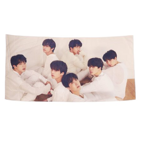 Fancyleo BTS Tapestry Love Yourself V Suga Jimin Jung Kook Wall Hanging  Decor for Home BTS Fans Gift