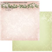 "Vintage Rose Garden Double-Sided Paper 12""X12""-Rose Header"