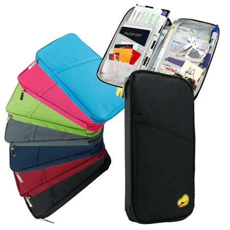 Travel Trip Passport Credit Id Card Cash Organizer Wallet Purse Holder Case Document Bag