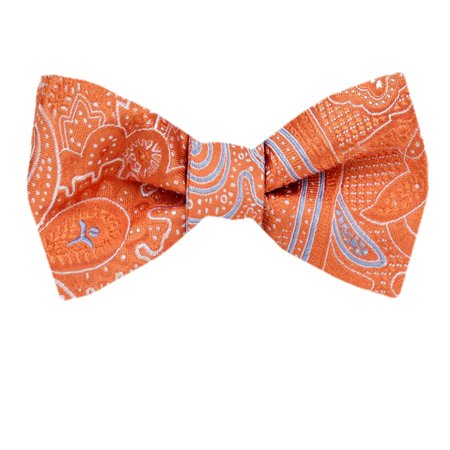 Mens Silk Pattern Dot Paisley Designer Self Tie Bow Tie Diamond Patterned Silk Tie