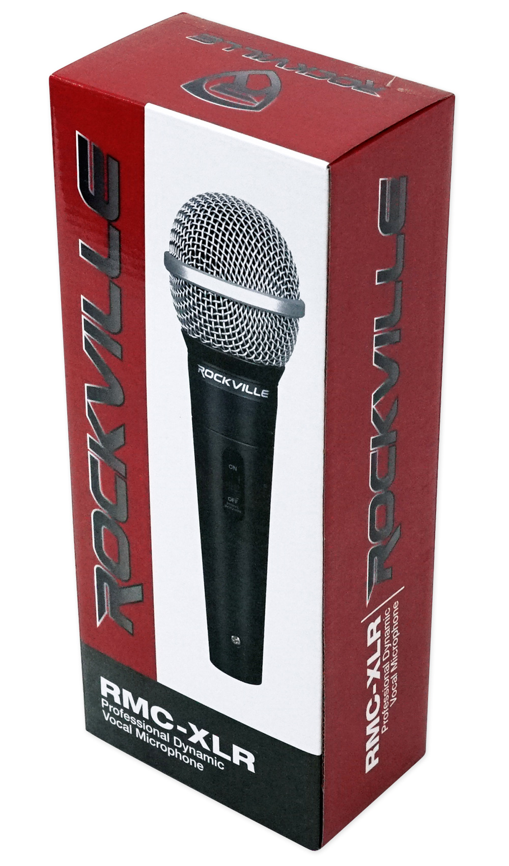 """Rockville RMC-XLR High-End Metal DJ Handheld Wired Microphone Mic 1//4/"""" Cable"""