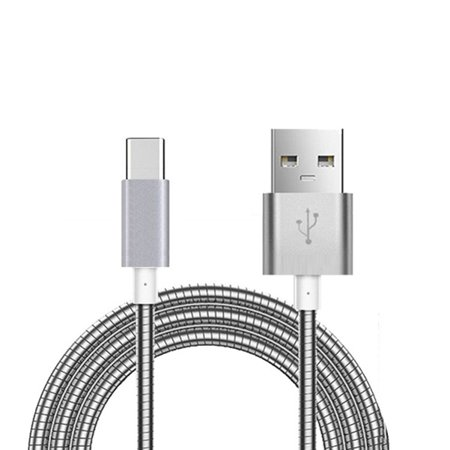 Metal Braided Type-C USB Cable Charger Power Sync Wire Compatible With HTC U11 Life - Huawei MediaPad M5 (8.4) (10.8), Mate 9 10 Pro, Honor 8, Google Nexus 6P - Lenovo Moto Tab (10.1) X3A](huawei mate 9 charging cable)
