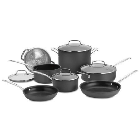 Cuisinart Chef's Classic Non-stick Hard Anodized 11 Piece Cookware Set