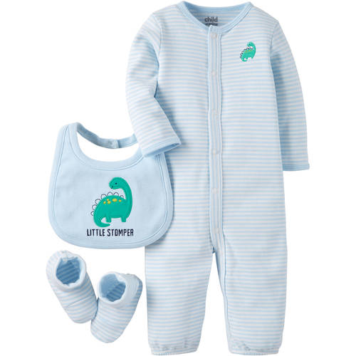 Child Of Mine by Carter's Newborn Baby Boy Convertagown, Bib and Bootie 4-Piece Set