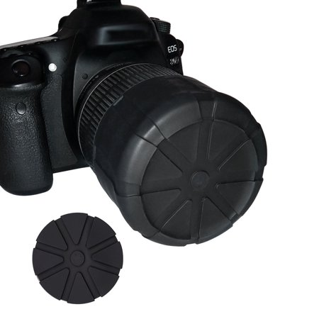 1X Waterproof SLR Silicone Camera Cover Universal Lens Cap Holder Camera Len Cover - image 2 of 8